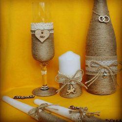 Wedding glasses on order