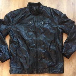 Large leather jacket
