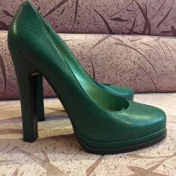 Fashionable shoes.