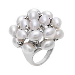 Cocktail Ring with Pearls