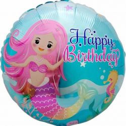 Helium balloons, mermaid.