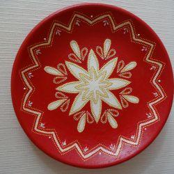 Πιάτο διακοσμητικό Λευκό λουλούδι