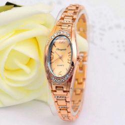 Oval watch with bracelet