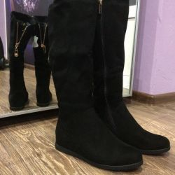 Boots, size 36. New, winter, suede