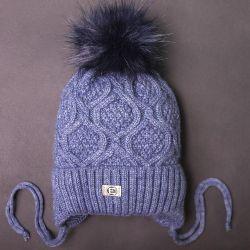 Şapka, yeni, kış, açık mavi