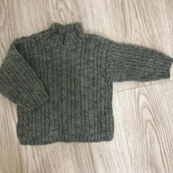 Sweater new, hand-knitted