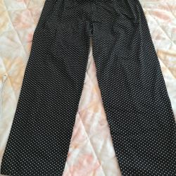 Summer lightweight pants p 50-52 with small polka dots