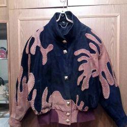 Женская замшевая куртка р 48.