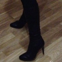 Leather Boots Stockings
