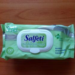 Șervețele umede antibacteriene Salfeti 100pcs