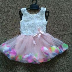 Φόρεμα με πέταλα