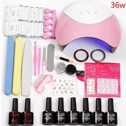 Set for manicure with a lamp of 36 watts