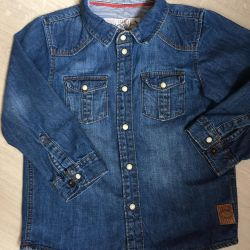 Рубашка H&m р.98