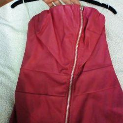Rochie din piele ecologică