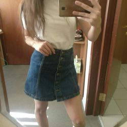 Jeans skirt from topshop