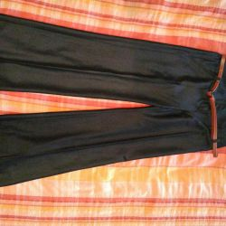 Classic straight trousers with a high waist