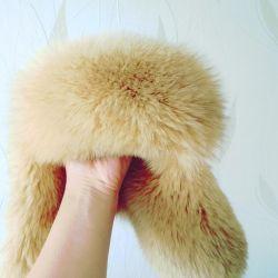 Cap arctic fox (new) 53-57cm.
