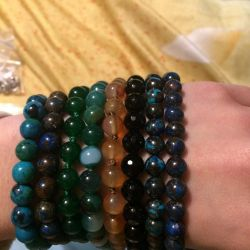 Bracelets from natural stone.