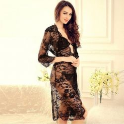 Dressing gown lace