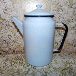 Enameled coffee pot coffee maker USSR