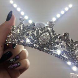 🖤 Crown diadem with rhinestones