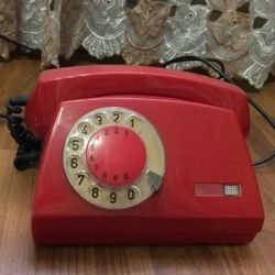 Disk stationary telephone