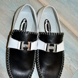 Moccasins rr 38. Leather. New
