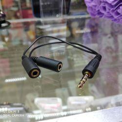 Audio cable jack aux 3.5 dad / 2 mom