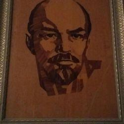 Portret încrustat V.I. Lenin