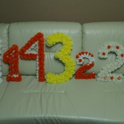 Duvardaki doğum günü sayısı 1, 2, 3, 4 ve 7