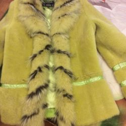 Muton jacket with fur without a hood