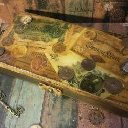 Tabut oymacılık para iğne işi hediye banknot