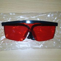 Glasses red protective new