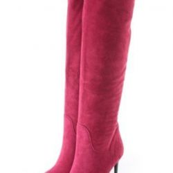 Boots of autumn natural suede