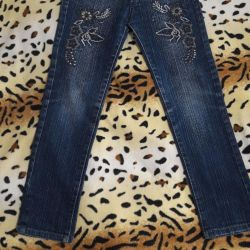 Jeans for a girl 7-9 years