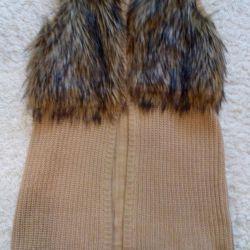 Waistcoat with fur