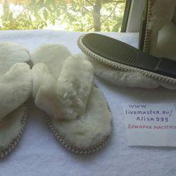 Mouton'dan beyaz flip floplar