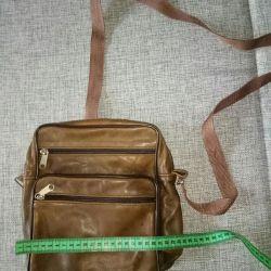 O geantă pentru bărbați. Piele naturală
