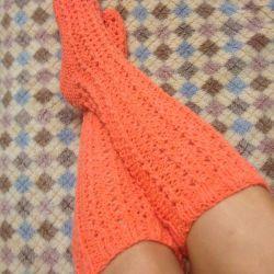 Χειροποίητα δεμένη κάλτσες