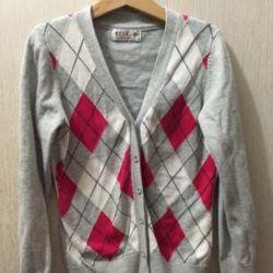 Jachetă cu buton, cardigan