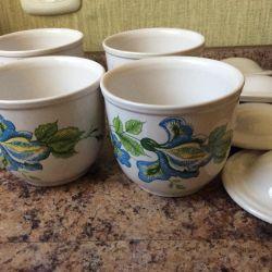 Pots for baking USSR 4 pcs