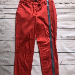 Red pants, ideally from Germany