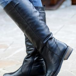 Leather boots in good hands