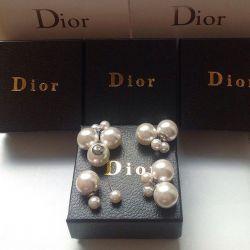 Silver Dior Earrings
