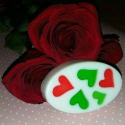 14 февраля мыло сердечки