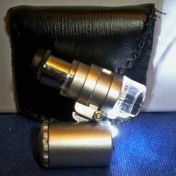 Mini microscope (pocket) with illumination