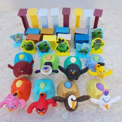 Oyuncaklar Engry Birds mancınık, koleksiyondaki tüm dizi!
