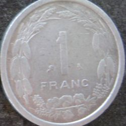 1 FRANC 1969 Cameroun 1 Franc 1969 Cameroon