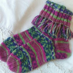 Women's socks. Hand knit.