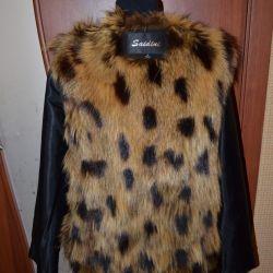 Jachetă cu blană naturală